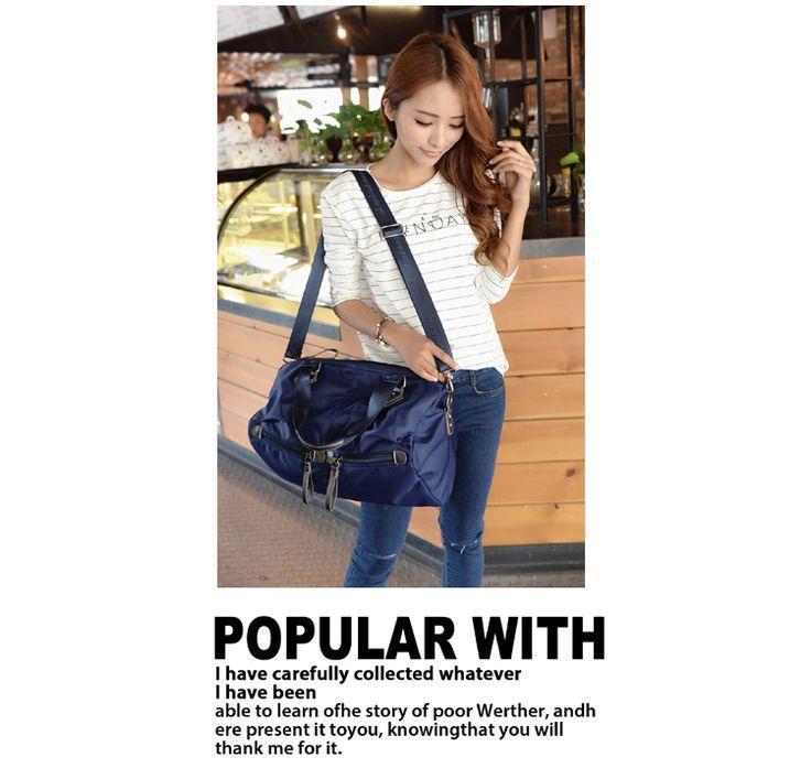 Alta qualidade bolsa de nylon impermeável marca cor Pure contratada firm saco de viagem mais zipper ombro saco da forma saco das mulheres em Bolsas Estruturadas de Bolsas e Malas no AliExpress.com   Alibaba Group