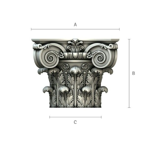 Composite wood column capital