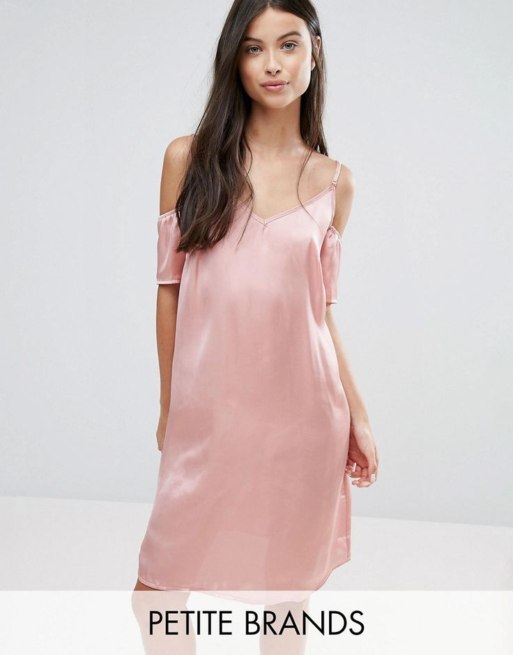 Buy it now. Vero Moda Petite Off The Shoulder Slip Dress - Pink. Dress by Vero Moda Petite, Silky-feel fabric, Adjustable cami straps, Cold-shoulder design, Relaxed fit, Machine wash, 100% Polyester, Our model wears a UK XS/EU XS/US XS and is 165cm/5'5 tall. ABOUT VERO MODA PETITE Chic, modern and Danish, Vero Moda is all about rebooting your wardrobe with fresh basics and suped-up tailoring. Vero Moda Petite brings us the same signature Scandi-cool vibe and relaxed pieces, only this time…