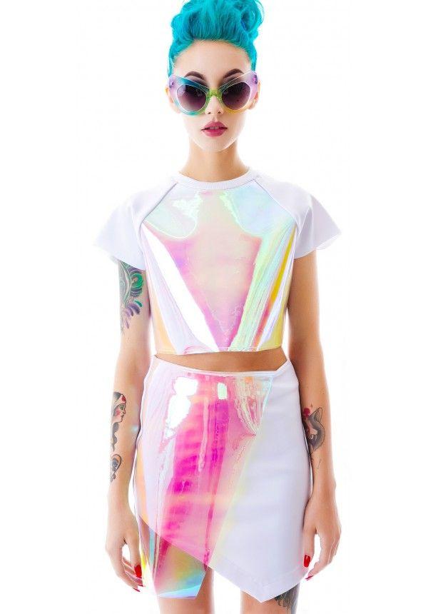 #UNIF Specter Skirt #holographic