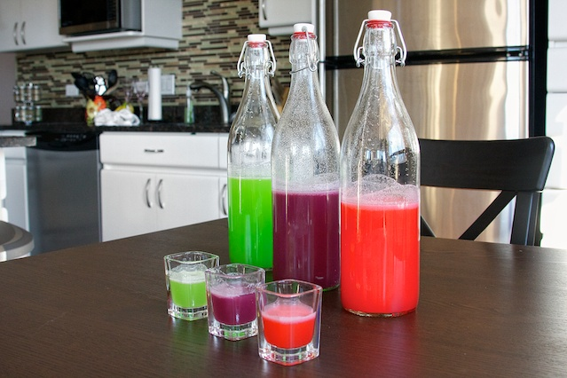 Skittles Vodka, take a shot straight...or mix it with club soda! Taste the rainbow.