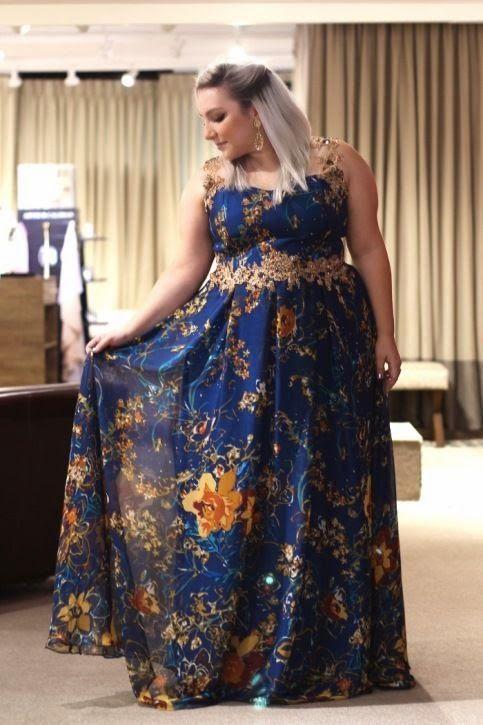 vestido de festa madrinha plus size dia