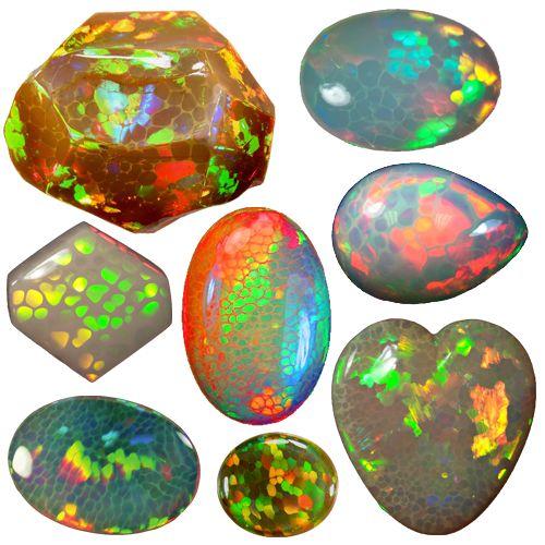 Ethiopian Honeycomb Opals