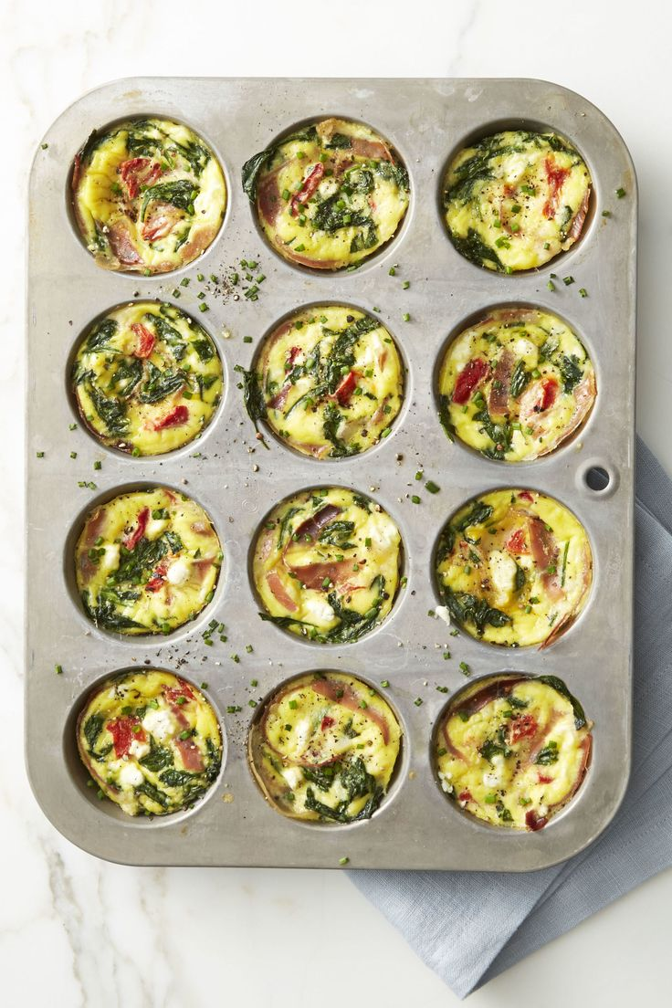 Spinach and Prosciutto Frittata Muffins - GoodHousekeeping.com