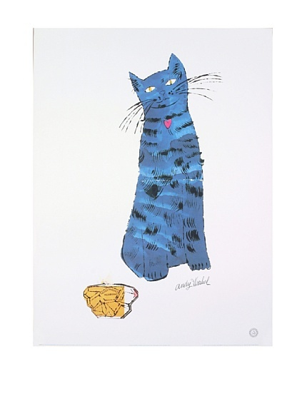 """Andy Warhol """"Blue Cat and Perfume Bottle"""" Offset Lithograph"""