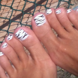 My zebra pedicure.