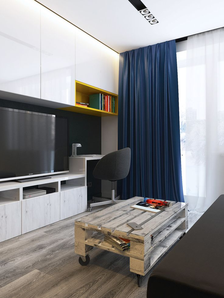 3 studio apartments under 50sqm for city dwelling couples including floor plans home office designs pinterest studio apartment apartments and