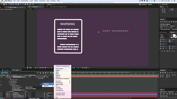 Create fake font for Info Graphics in After Effects - YouTube