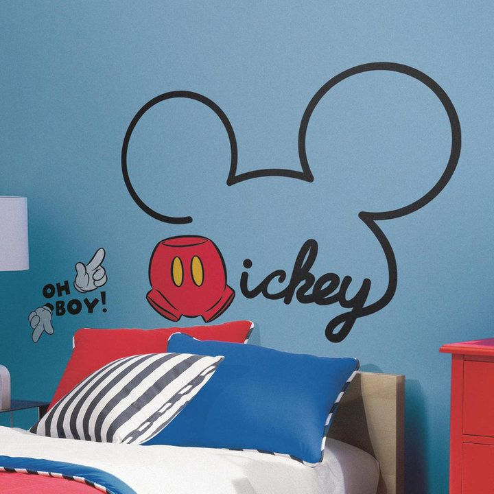 RoomMates Disney Mickey Mouse Peel U0026 Stick Giant Wall Decals Part 54