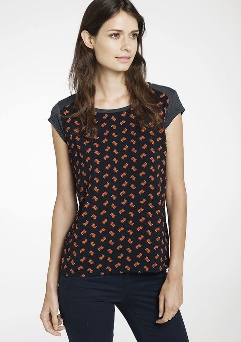 Geprinte T-shirt met korte mouwen - LolaLiza
