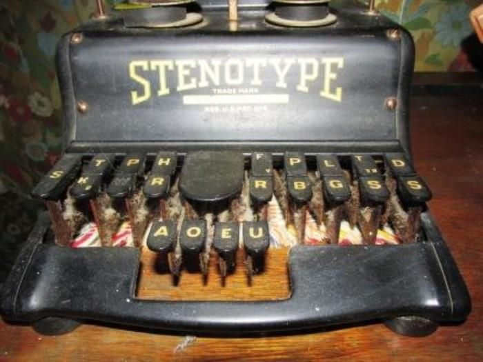 court reporter typewriter What you must know about the rpr test  unlike a traditional typewriter,  stenotypes allow a court reporter to transcribe common phrases and articles rather.