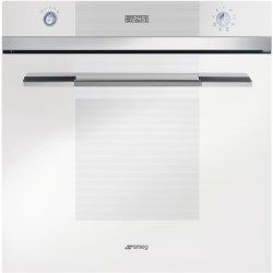 Smeg SFP109B Linea Pyrolytic Multifunction Maxi Plus Electric Built-in Single Oven - White | Appliances Direct