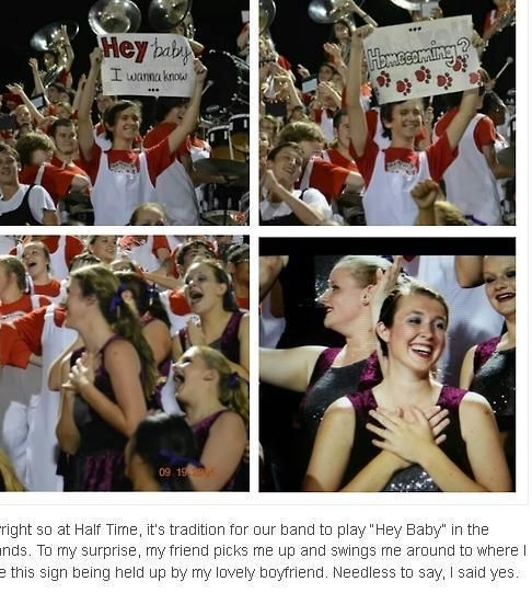 get the marching band to ask her and you're a real winner! So cute! #hocoproposal