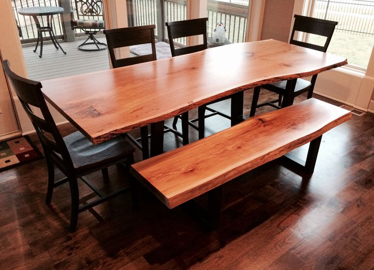 Live Edge Dining Table Wood Slab Dining by KCCustomHardwoods