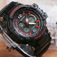 jam tangan pria cowok Digitec sport DG 2078T list merah Original 100%