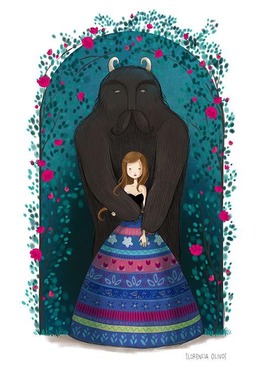 La bella y la bestia http://florenciaolivos.cl