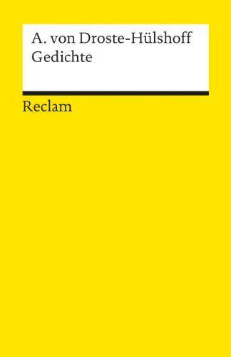 Gedichte: Amazon.de: Bernd Kortländer, Annette von Droste-Hülshoff: Bücher