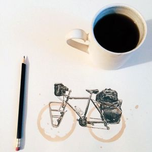 Surly complete bikes are on sale at the BNB Bike Shop!  Surly Long Haul Trucker Coffe Ring Drawing Carter Asmann
