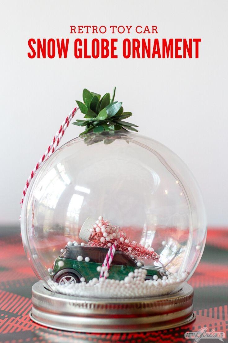 Diy Snow Globe Christmas Ornament Diy Snow Globe Snow Globe Crafts Christmas Globes