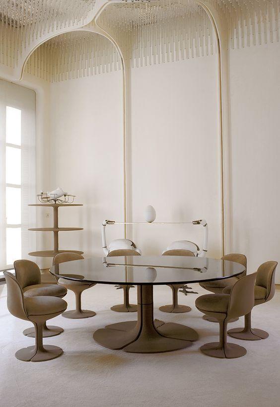 Pierre Paulin #iconic #decorator #designer #PierrePaulin