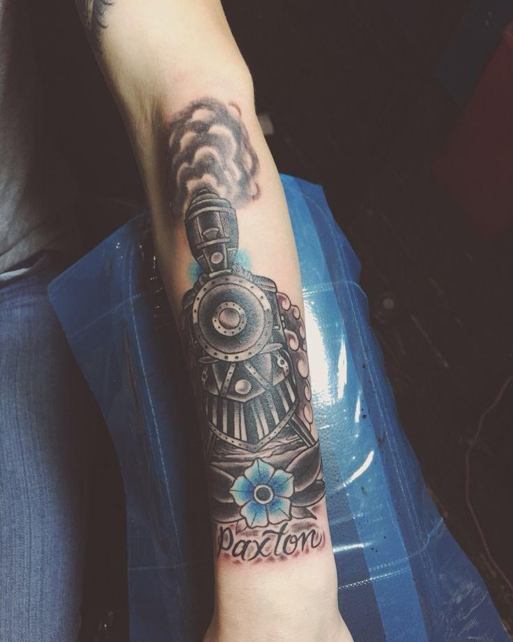 My train tattoo