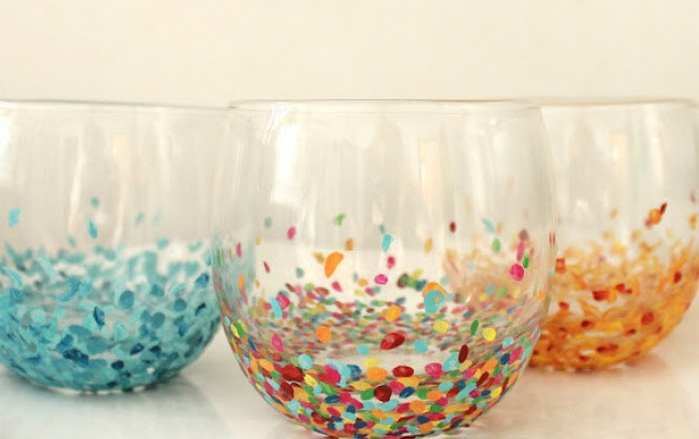 diy fun painted glass drinking cups diy pinterest