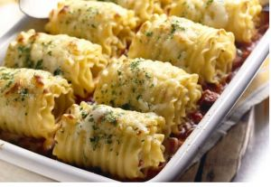 Chicken and Cheese Lasagna Roll-Ups | JW Recipes.com | Pinterest