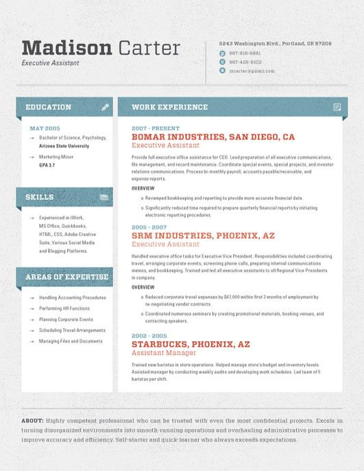 91 Best Images About Resume Ideas On Pinterest | Business Resume