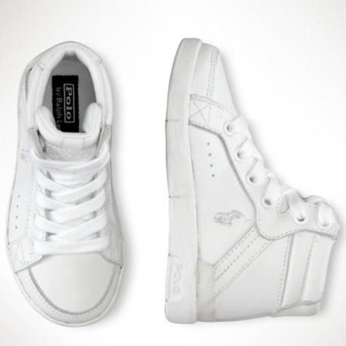 Ralph Lauren Toddler Talbert High-Top Sneaker Shoes