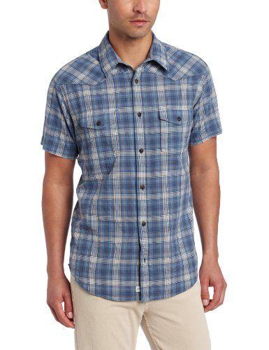 Lucky Brand Men's Fly Short Sleeve Western Shirt, Blue Plaid, Small Lucky Brand,http://www.amazon.com/dp/B00BP3HRVG/ref=cm_sw_r_pi_dp_DVKTsb0R1FA8DK7V