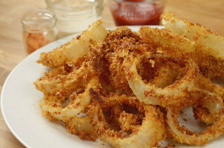 Air Fryer Onion Rings 3 Ways