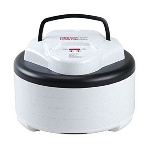 White Contemporary Exterior 5 Tray Adjustable Thermostat 600 w Food Dehydrator
