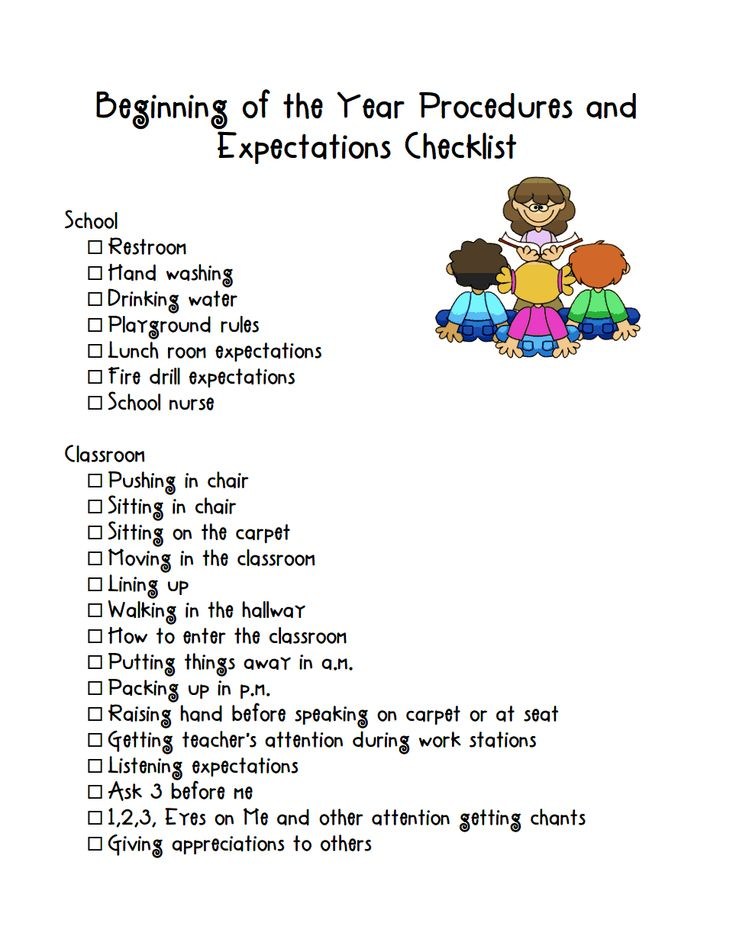 BOY Procedures and Expectations.pdf BOY/EOY Pinterest