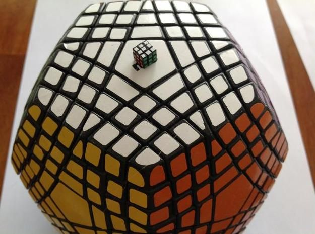 Subatomic Cube - World's Smallest Rubik's Cube! 3d printed Mechanical parts Puzzles