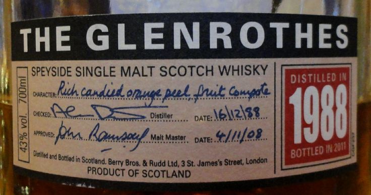Glenrothes 1988/2011 43%