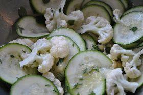 Linen med mere: salat af squash og blomkål