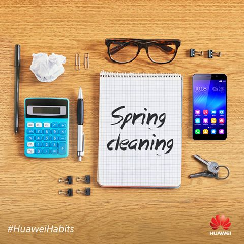 Spring is almost here so while you're cleaning up your room, why don't you take some time to organize and clean your smartphone?#SpringCleaning #HuaweiHabits