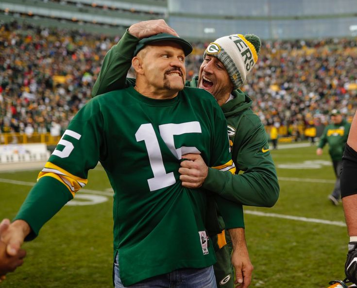 Chuck Liddell and Aaron Rodgers