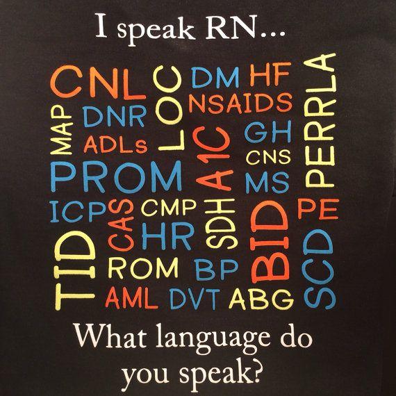 I speak RN...What language do you speak? on Etsy
