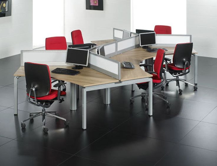 This dog bone by clear design has low divider panels making it easy to share office cubicleoffice desksthe
