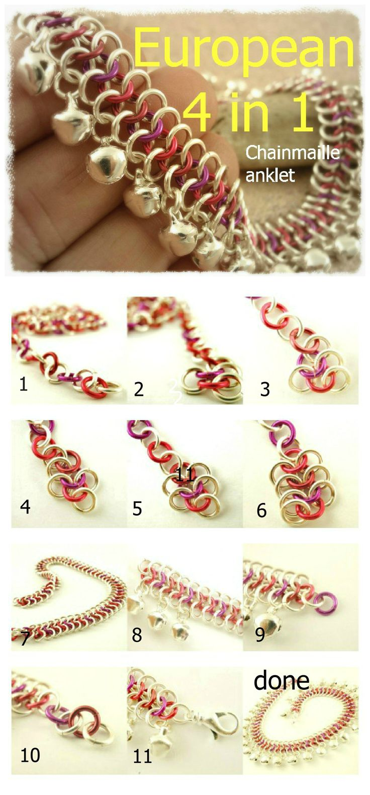 pulsera paso a paso - Chainmaille!