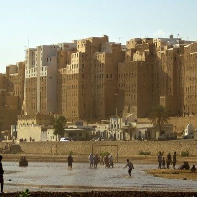Shibam, the 16th-century city in Yemen, consisted entirely of over 500 high-rise tower houses. Why were the houses built that way? For defense! The houses of Shibam are all made out of mud brick and rise 5 to 11 stories high, with each floor having one or two rooms. This architectural style was used in order to protect residents from Bedouin attacks. Shibam is listed as UNSECO World Heritage Site.
