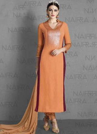 Orange Embroidery Sequin Work Georgette Party Wear Designer Pakistani Suit http://www.angelnx.com/Salwar-Kameez/Pakistani-Suits