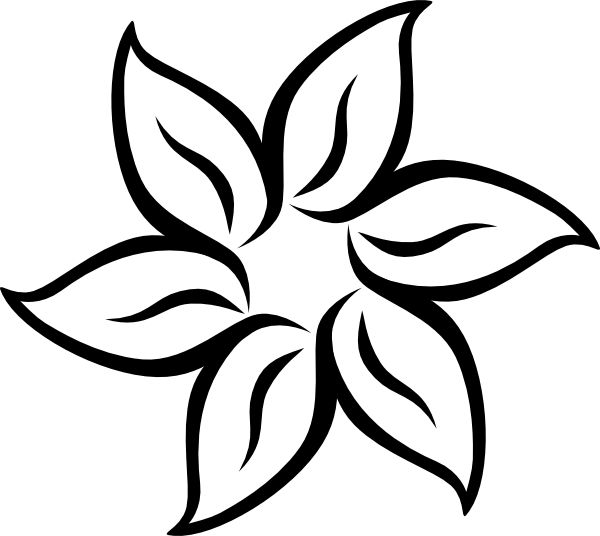 Free Printable Stencil Patterns | ... Flower clip art - vector clip art online, royalty free & public domain