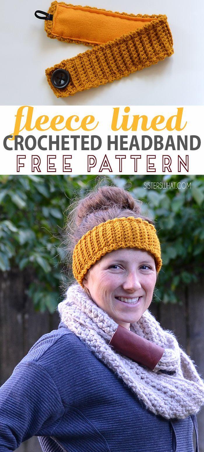 free pattern for crochet fleece headband.