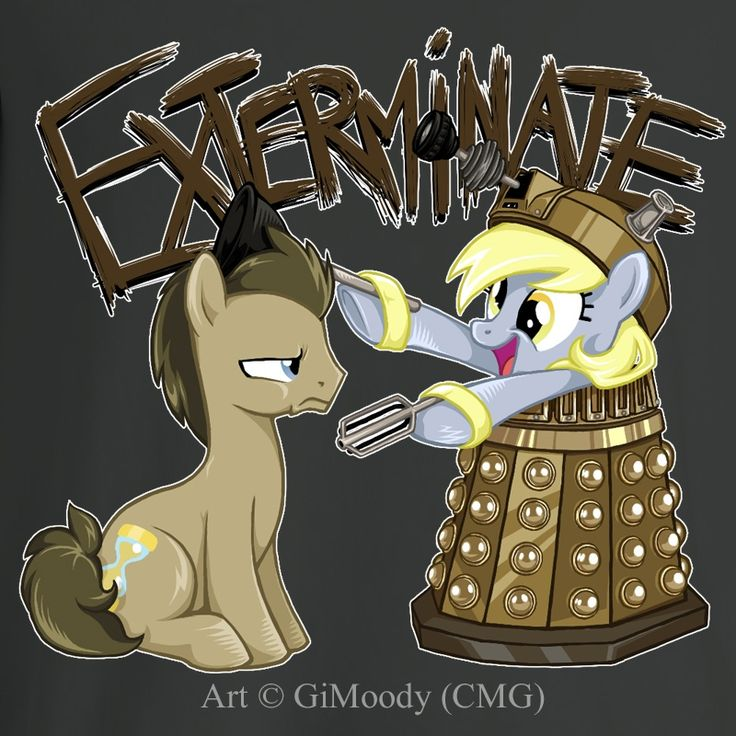 Doctor Whooves and Derpy Hooves.  This is my OTP.