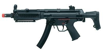 H&K MP5 A5 Tac SWAT Elite Airsoft Machine Gun airsoft gun Powered by 9.6V NiMH rechargeable battery (not included). Optic Compatible Tactical Rail. Ammo Type: Airsoft BBs.  #Heckler_&_Koch #Sports