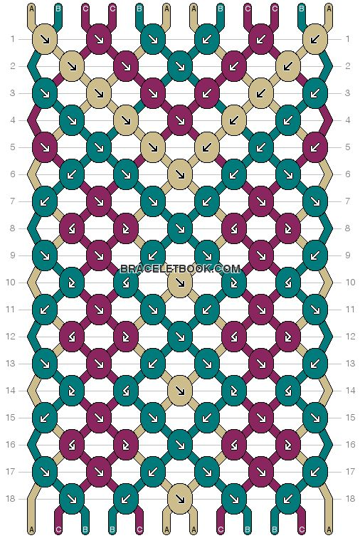 Aztec Tribal Friendship Bracelet Pattern Number 3907 - For more patterns and tutorials visit our web or the app!