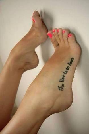 Frase en el pie