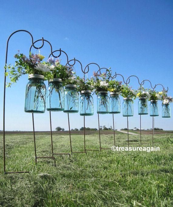 Wedding Hanging Jars Mason Jar Shepherd Hooks With Mason